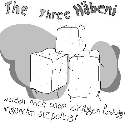 the three Kartophel-Bricks